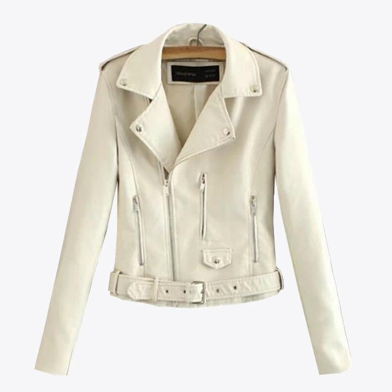 Biker Leather Short Coat Tops