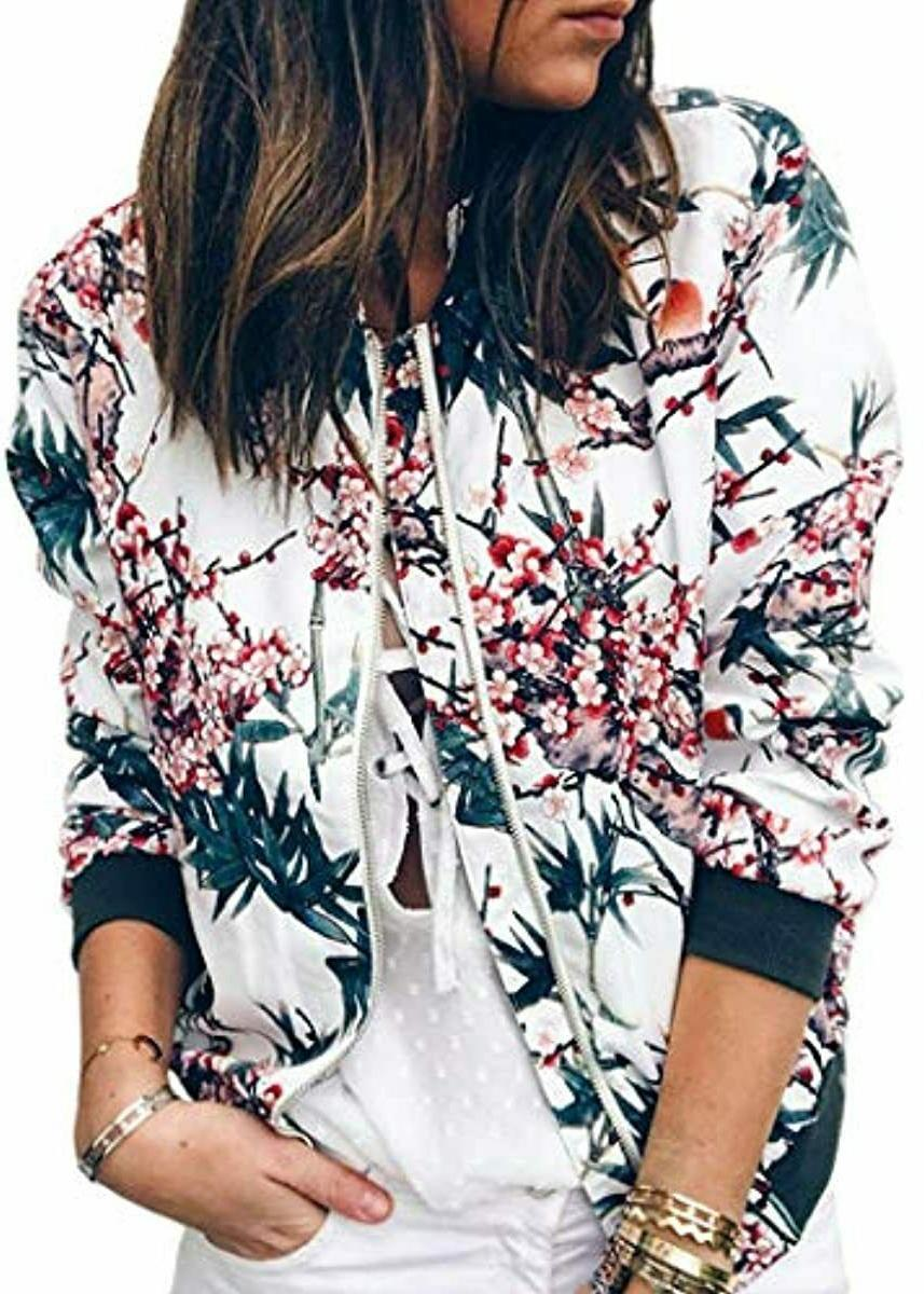 women s casual floral zip up inspired