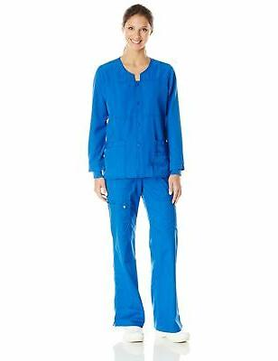 WonderWink Women's Four Stretch Scrub Jacket, Royal, Medium