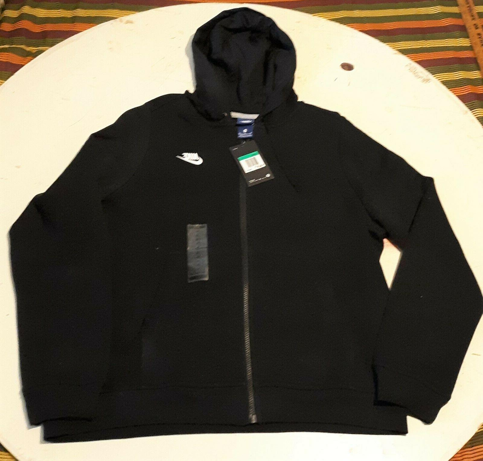 Nike Women's Full-Zip Hoodie Jacket BLACK Size XL NEW with T