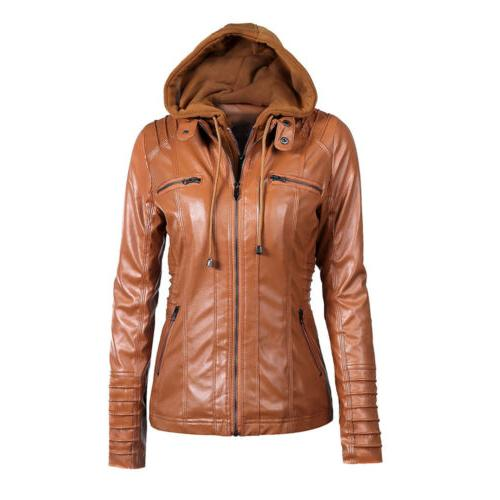 Women's Zipper Fake Outdoor Coat Jacket Winter US