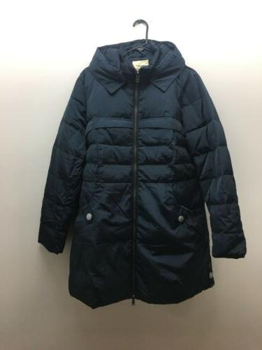 women s long hooded down coat thickened