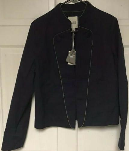 Fossil Women's Peacoat Jacket, Women's XL, Navy Blue/Green