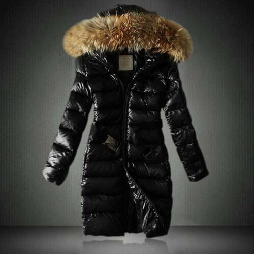 Women's Quilted Down Thickened Hooded Shiny Jacket Parka