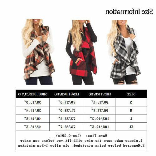 Women's Cardigan Waterfall Collar Coat Jacket Vest