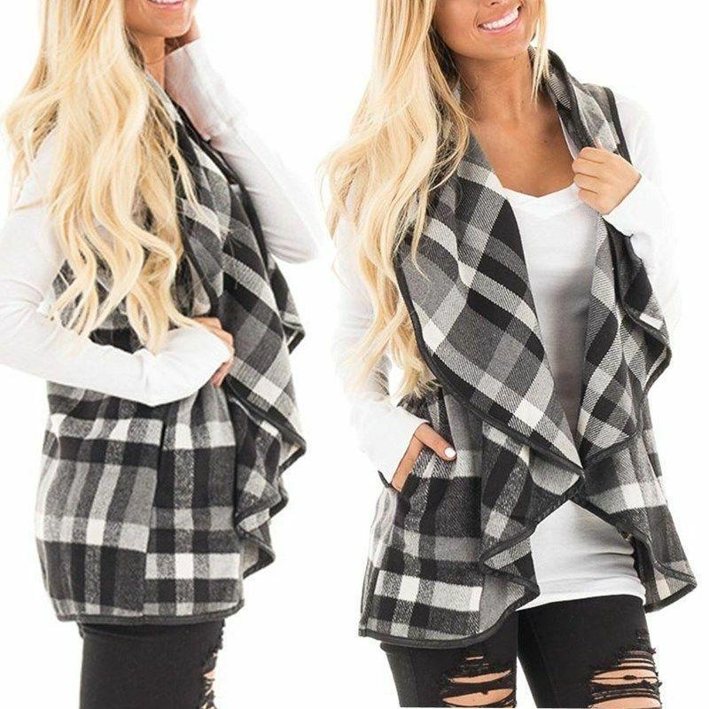 Women's Cardigan Waterfall Collar Coat