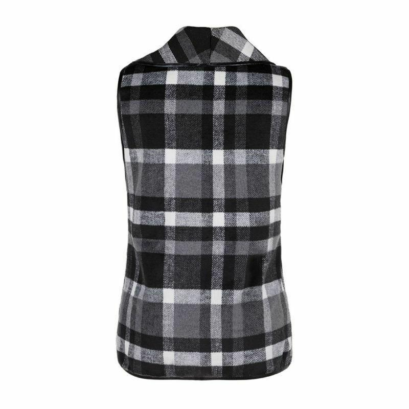 Women's Sleeveless Sweater Waterfall Collar Jacket Vest Waistcoat