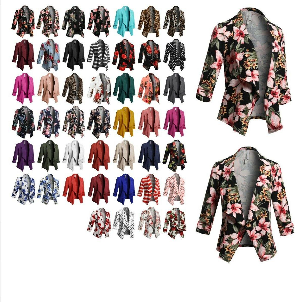women s solid print stretch 3 4