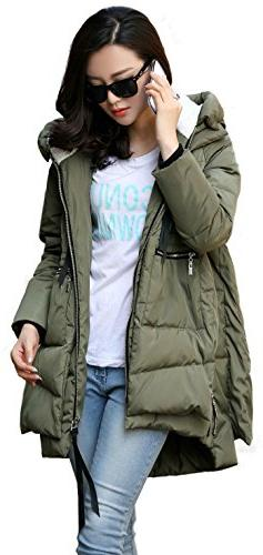 women s thickened down jacket green 2xl