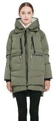 women s thickened down jacket green x