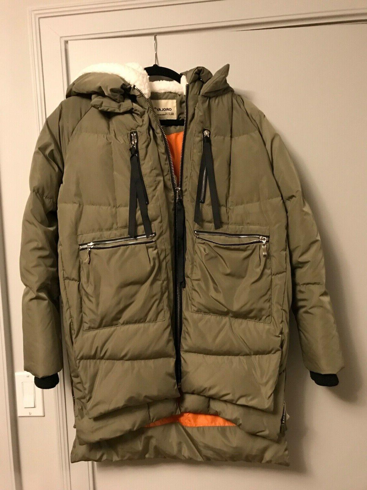 women s thickened down jacket in green
