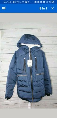 Orolay Women's Thickened Down Jacket NAVY X-Large
