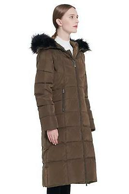 Orolay Women's Puffer Down Jacket Hooded Coat