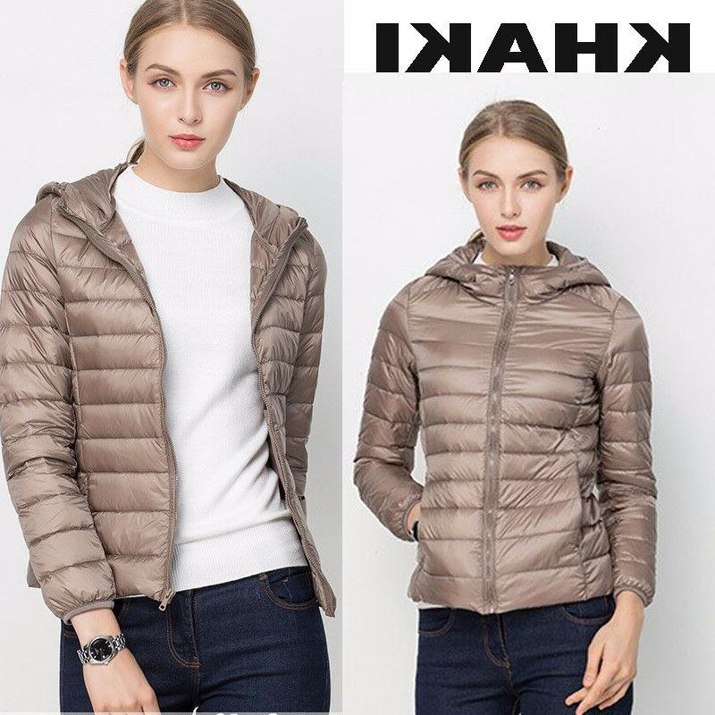 Women's Hooded Jacket Puffer Short New Factory