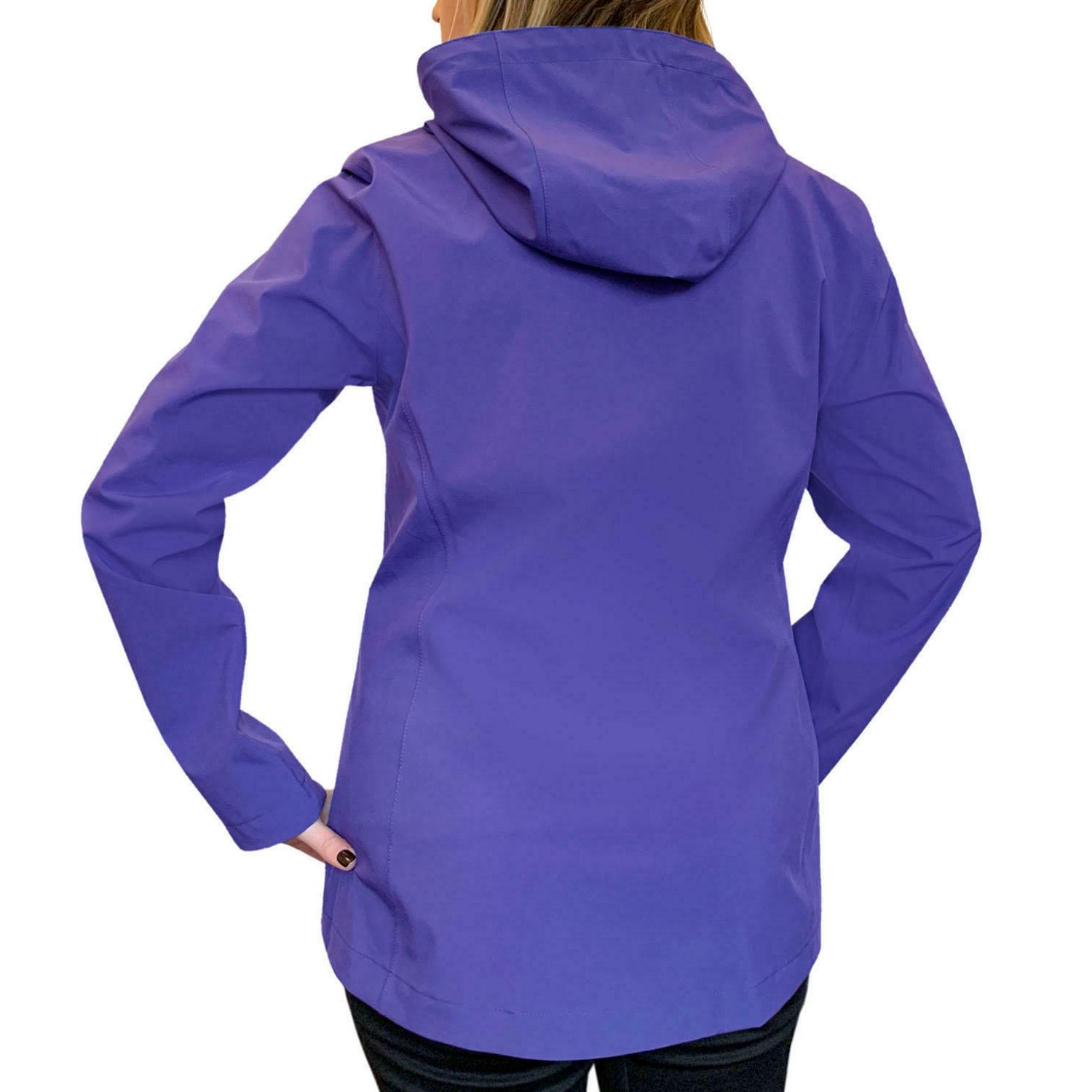 Women's rain windbreaker packable S M XL 2X