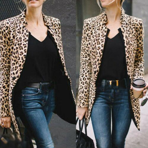 women s wild leopard jacket sweater tops