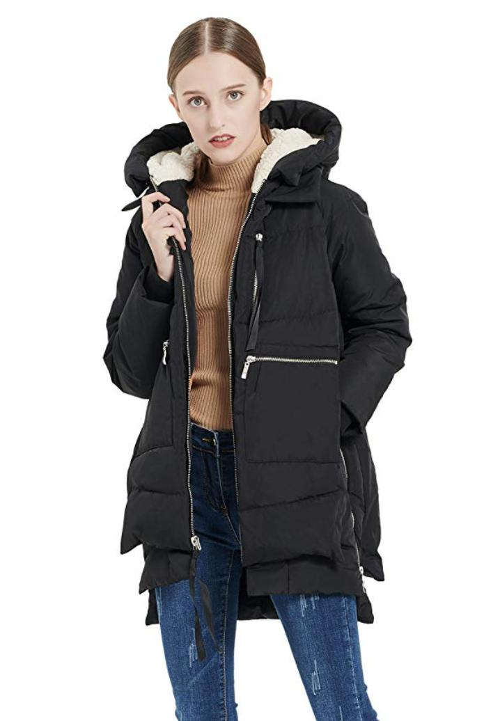 Women's Women's Thickened Down Jacket Large, Black
