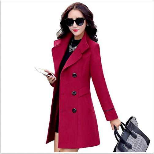 women s wool coat double breasted coat