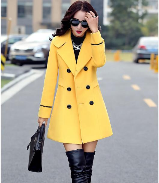 Women's Breasted Coat Female Fashion Jacket