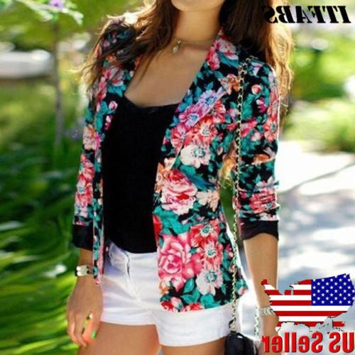 women slim ol suit casual blazer jacket