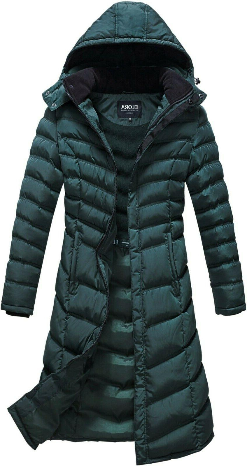 women winter warm full length quilted puffer