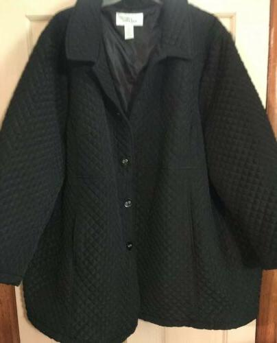 womens 5x willow lane nwot black quilted