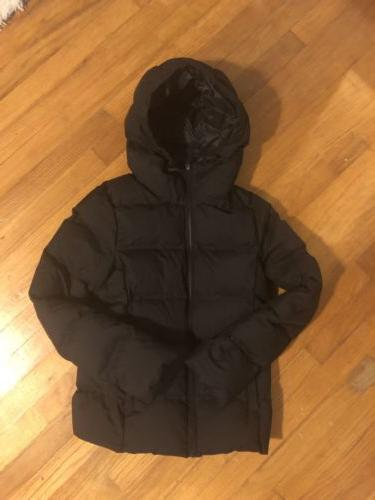UNIQLO WOMENS BLACK QUILTED PUFFER PACKABLE JACKET COAT S LI
