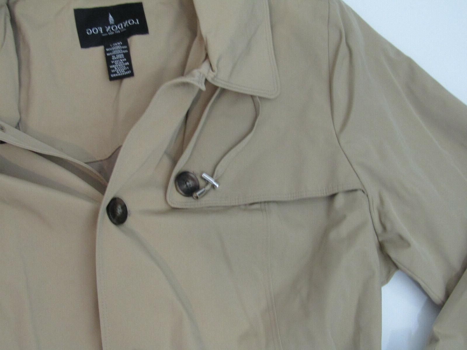 LONDON FOG British Khaki Jacket NWT