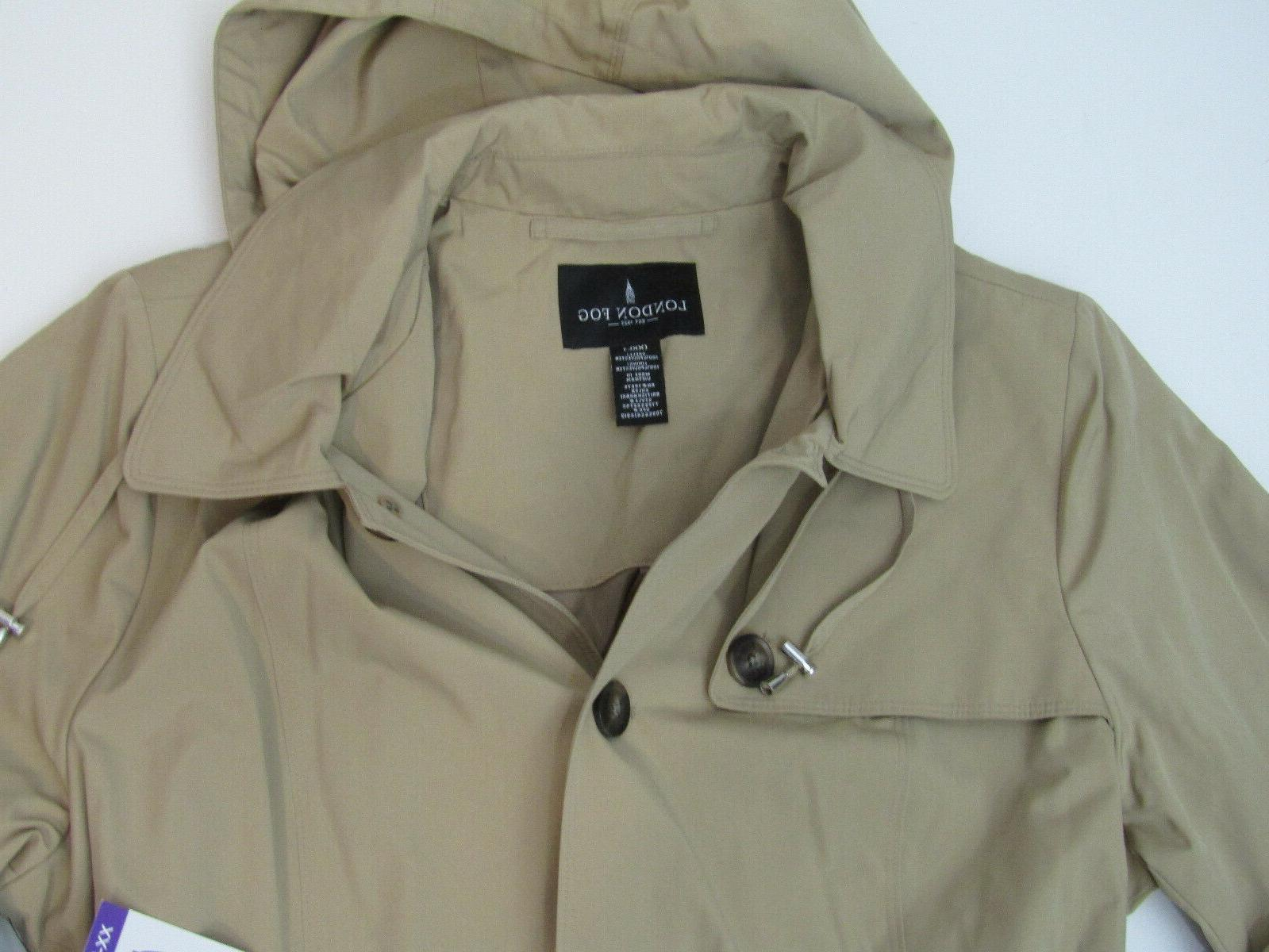 LONDON Womens Khaki Jacket Trench Coat NWT Size Medium