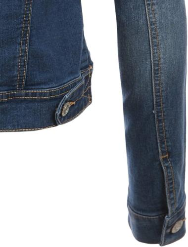 LE3NO Classic Sleeve Jean Jacket with Pockets