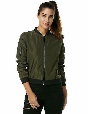 womens classic quilted jacket short bomber jacket
