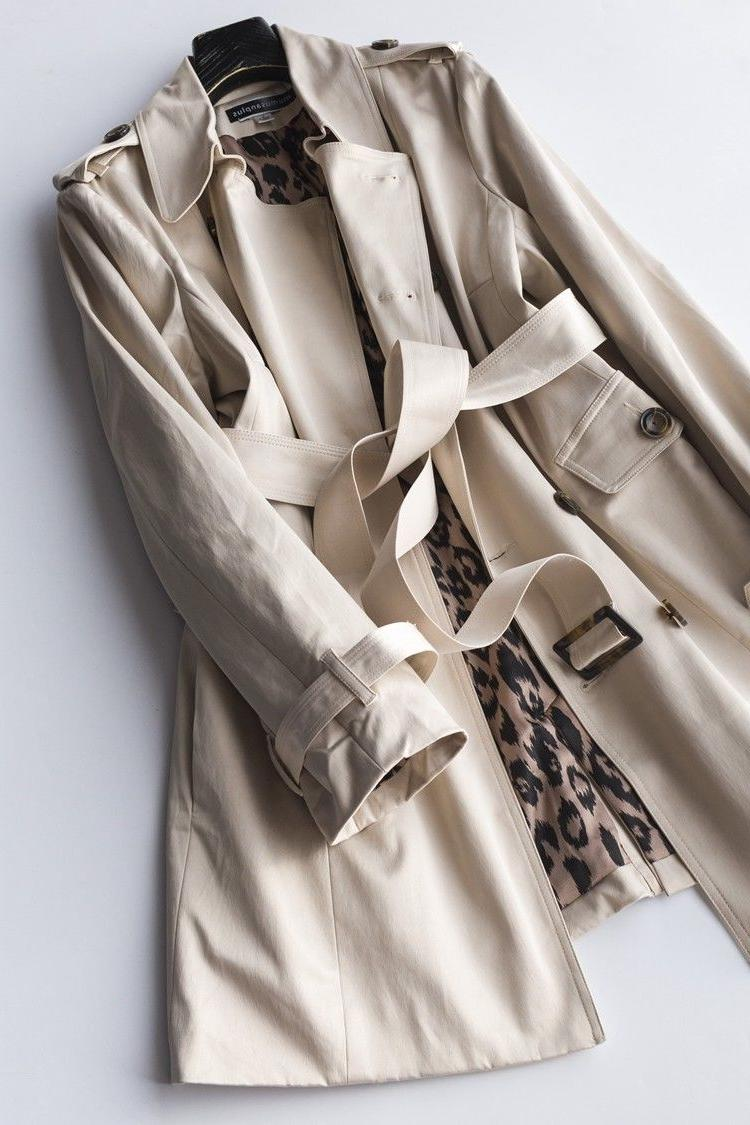 Womens Clothing Joan Rivers Plus Size Water Resistant Trench