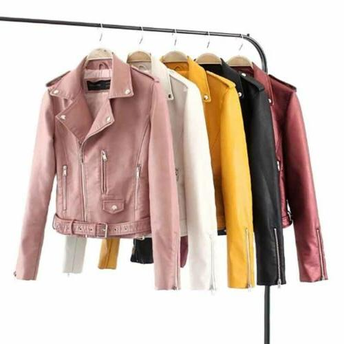 Womens Coat Leather Jackets Parka Outdoor Tops