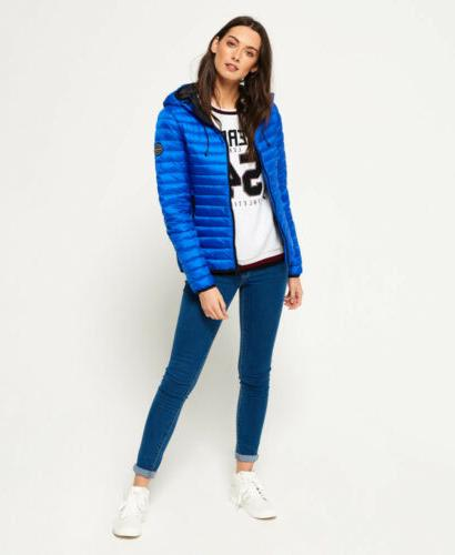 Womens Core Hooded Cobalt