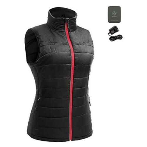 Womens Heated Vest Ladies USB Battery Pad Quilted Jacket Top