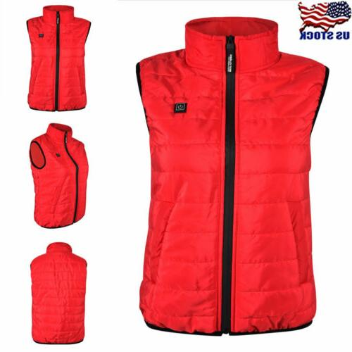 womens electric usb winter heated vest heating