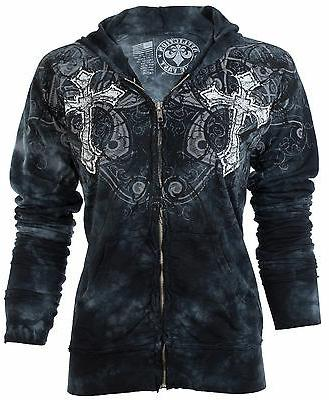 AFFLICTION Womens ZIP UP Wings Sinful $74