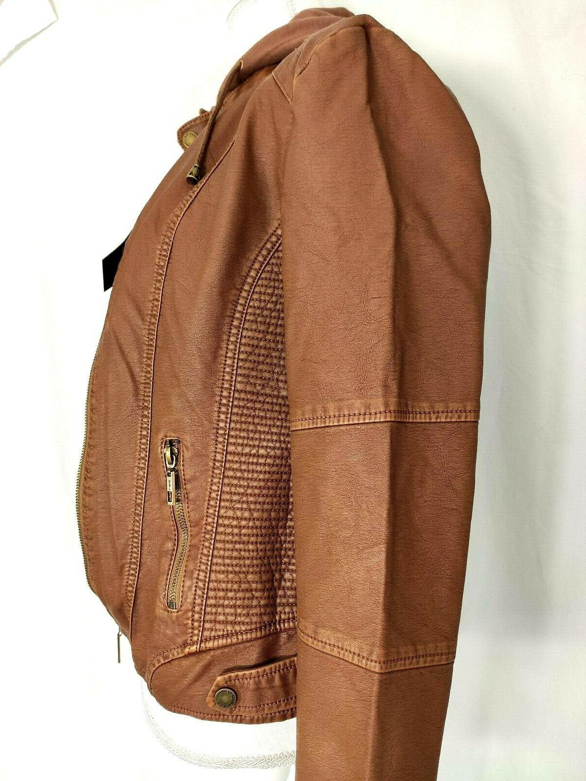 Made By Johnny Leather Up Biker Size