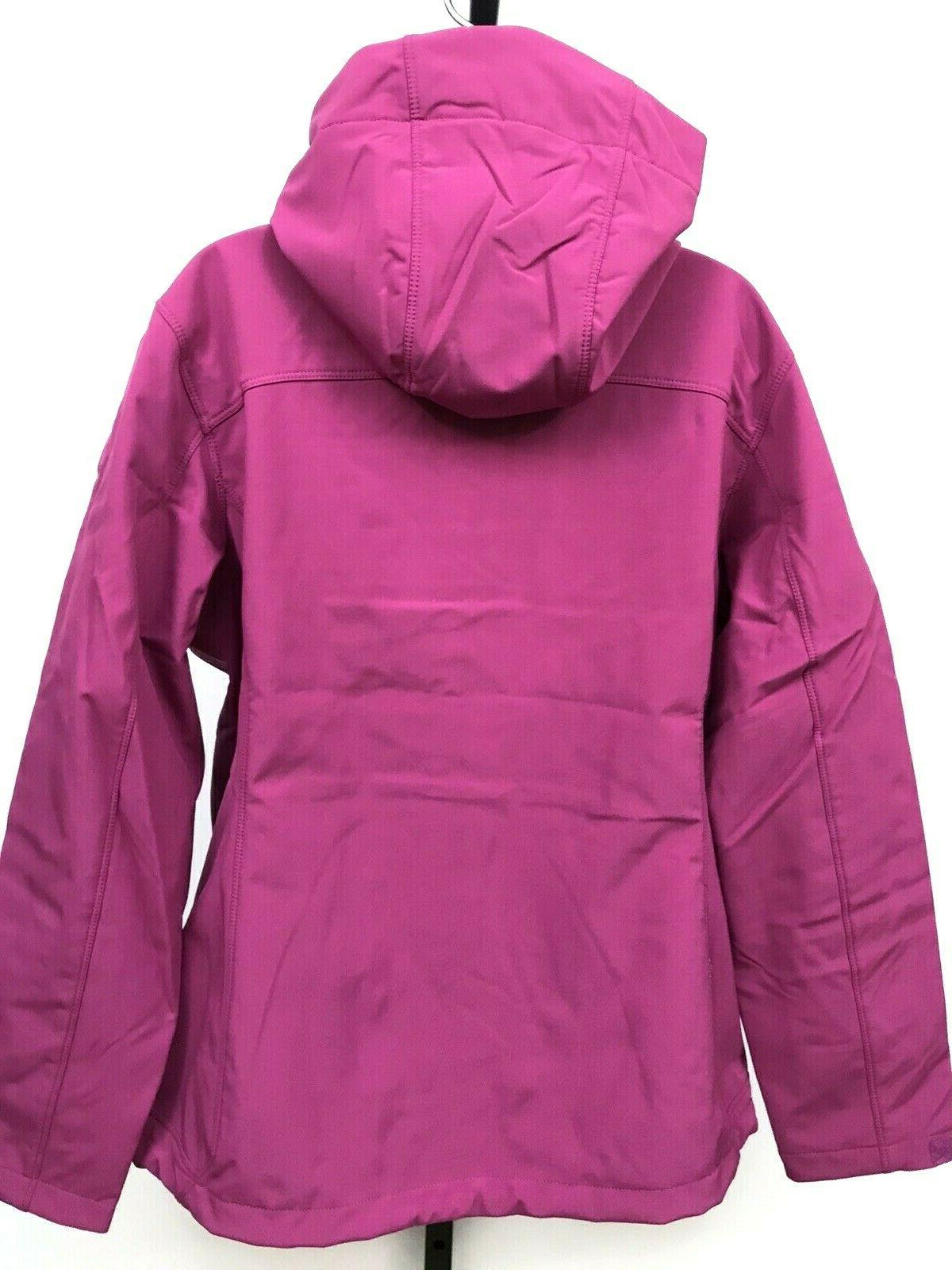 White Womens Jacket Waterproof Hooded Softshell Large $90 Stretch