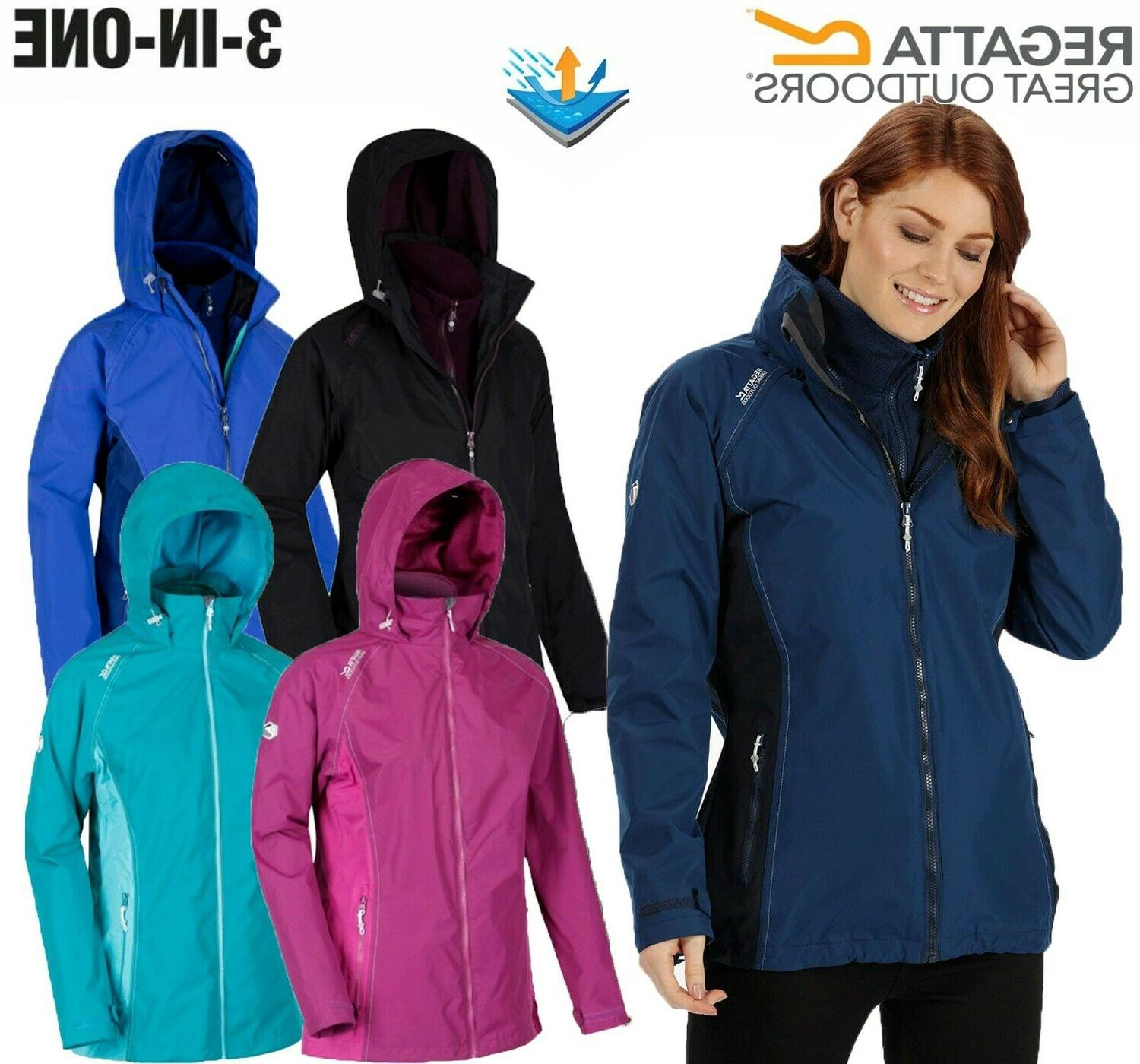 REGATTA WOMENS LADIES 3 IN 1 PREMILLA WATERPROOF COAT / JACK
