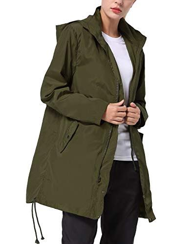 Baleaf Lightweight Jacket with Hooded Outdoor Army M