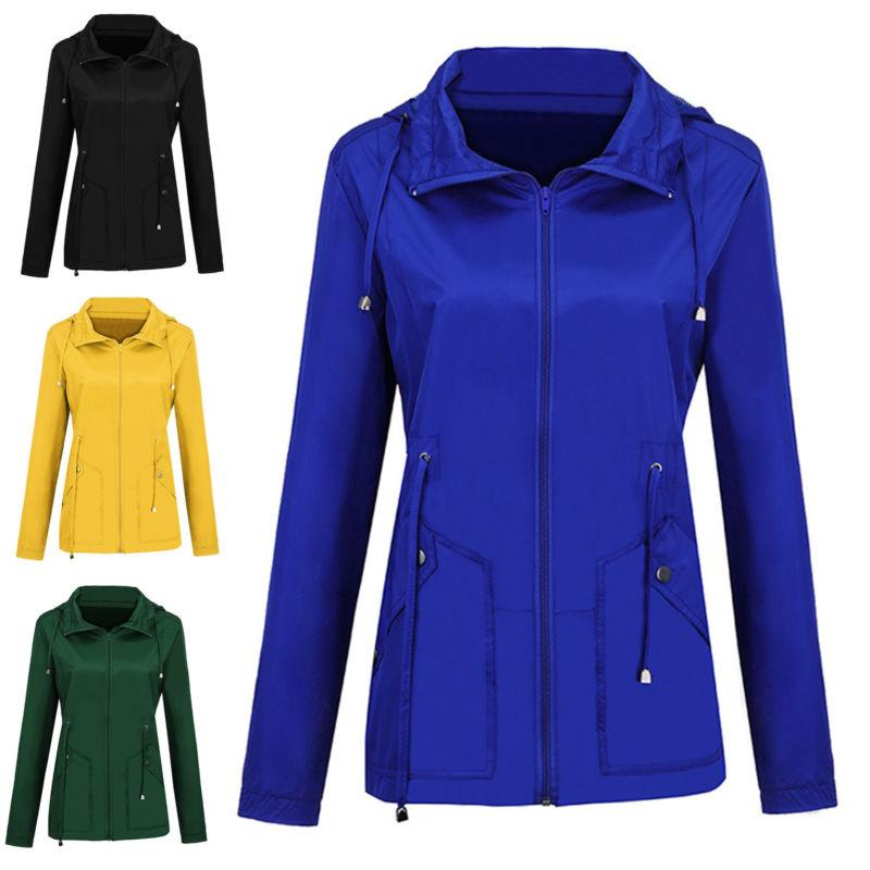 Women Men Rain Raincoat Hooded Hoodies Jacket