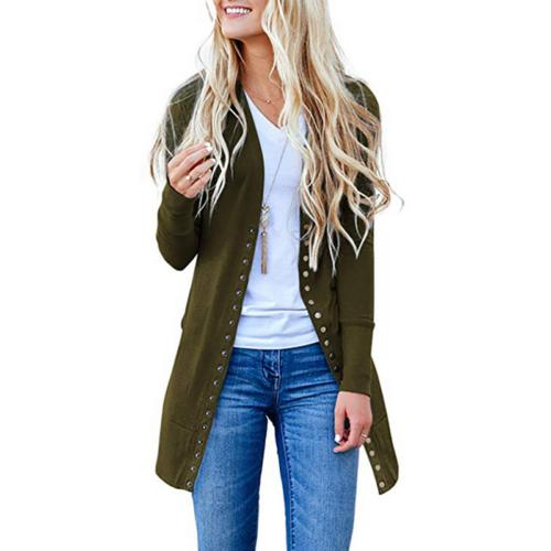 Womens Sleeve Slouchy Cardigan Open Front Draped