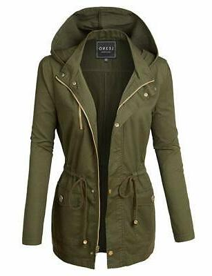 womens military anorak safari jacket
