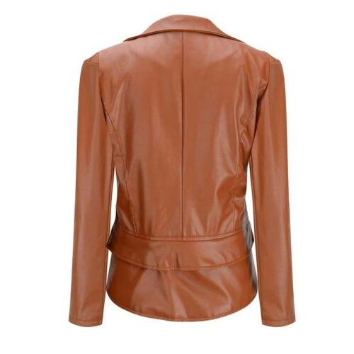 Womens Biker Coat Jacket