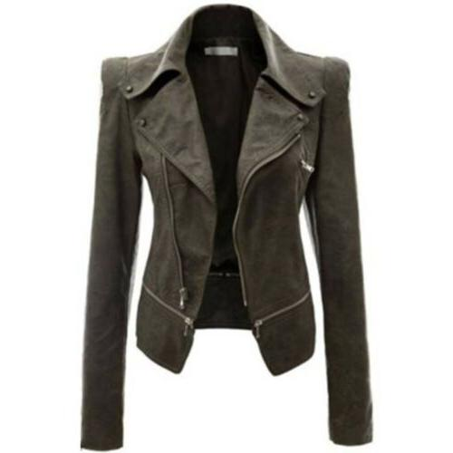 Womens Coat Punk Jacket Lapel