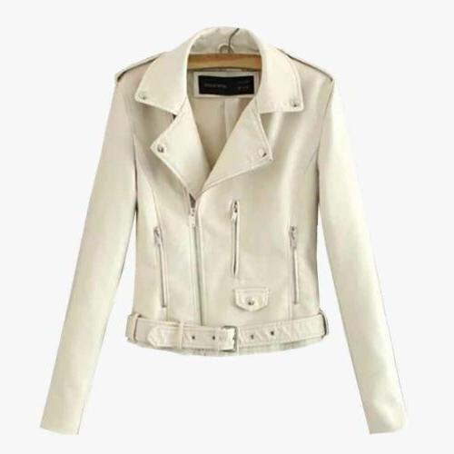 Faux Leather Jackets Short