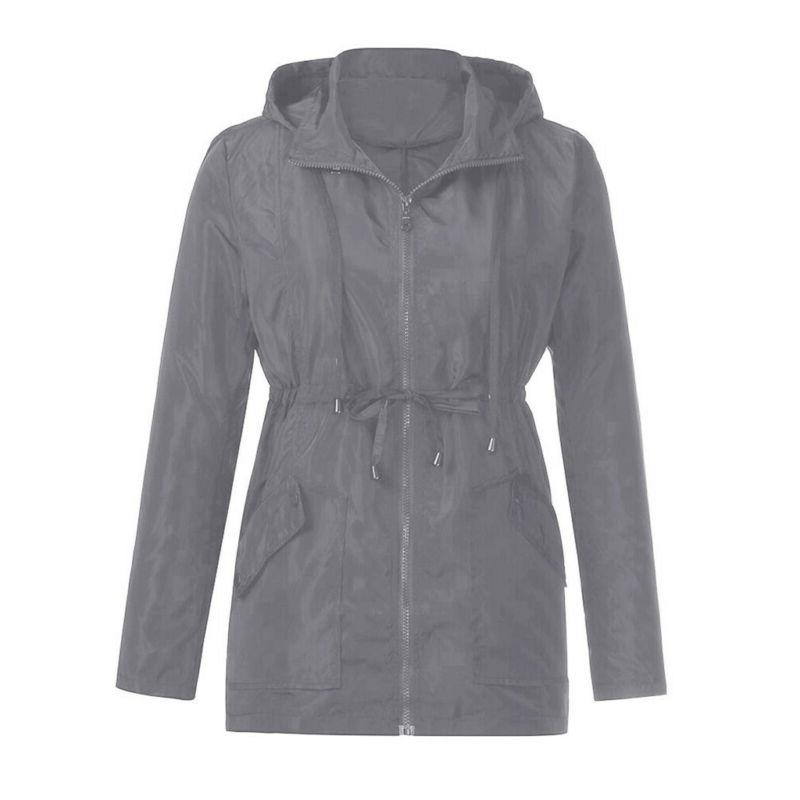 Womens Outdoor Waterproof Raincoat Tops Overcoat Rain