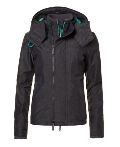 Womens Superdry Pop Zip Hood Arctic SD-Windcheater Jacket Mi