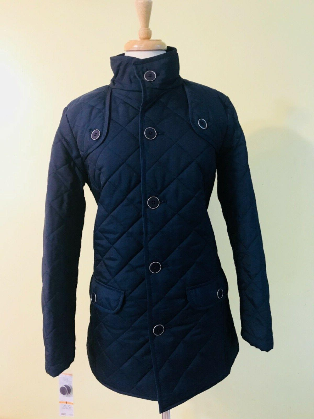 womens quilted jacket size s navy 169